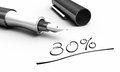 Fountain pen black and white closeup of a and a handwritten note Royalty Free Stock Photo