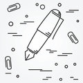 Fountain pen Icon. Fountain pen Icon Vector.