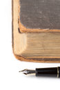 Fountain Pen And old Book Royalty Free Stock Photo