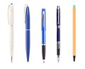The fountain pen set of a isolated on a white background Royalty Free Stock Images