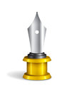 Fountain Pen Trophy Royalty Free Stock Photo