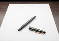 Fountain Pen on White Paper Royalty Free Stock Photo