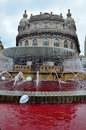 The fountain in Piazza de Ferrari Royalty Free Stock Photos