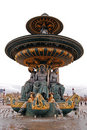 Fountain on Place Concorde in Paris Royalty Free Stock Photo