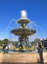 Fountain in Place de la Concorde - Paris Royalty Free Stock Photos