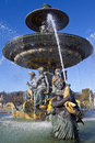 Fountain at place de la concorde in paris a beautiful Royalty Free Stock Images