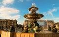 The fountain on place de la Concorde, Paris, France. Royalty Free Stock Photo