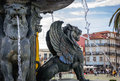 Fountain in Porto Royalty Free Stock Photo