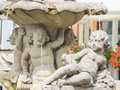 Fountain of proserpina depicting the goddess on old market square in poznan Stock Photo