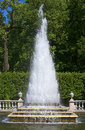 Fountain pyramid sunny summer day peterhof russia Stock Photos