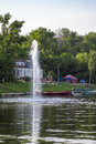 Fountain of the river in summer boat trips Royalty Free Stock Photography