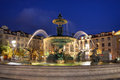 Fountain in Rossio Square, Lisbon, Portugal Royalty Free Stock Photo