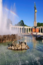Fountain of the Russian Memorial, Vienna Royalty Free Stock Photo
