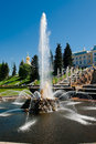 Fountain samson a central fountain palace and park ensemble peterhof Royalty Free Stock Images