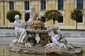 Fountain sculpture: Schonbrunn Wien Vienna, Austria Stock Photography