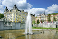 Fountain, spa Marianske lazne, Czech republic Royalty Free Stock Photo