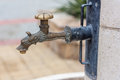 Fountain spout water with bronze Royalty Free Stock Image