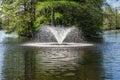 Fountain at Swan Lake Iris Gardens, Sumter, SC Royalty Free Stock Photo