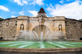 Fountain in szczecin at the maritime museum poland Royalty Free Stock Photography