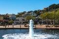 Fountain in tiburon california usa july the the lagoon Royalty Free Stock Photos