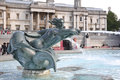Fountain at Trafalgar Square in London Stock Photography