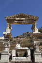 The Fountain of Traianus, Ephesus Stock Photo