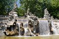 Fountain of the twelve months turin in italy Royalty Free Stock Photo