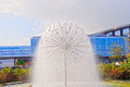 Fountain in a urban park near the copenhagen airport Royalty Free Stock Image