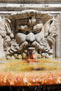 Fountain in the villa borghese gardens rome italy shape of a male head with a beard Stock Images