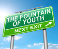 Fountain of youth concept illustration depicting a sign with a Royalty Free Stock Photos