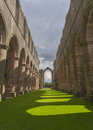 Fountains abbey arches medieval monastery north yorkshire Royalty Free Stock Image