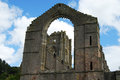 Fountains abbey ruined north yorkshire england Stock Photo