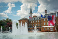 Fountains at Market Square, and City Hall, in Alexandria, Virgin Royalty Free Stock Photo