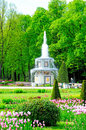 Fountains in petergof park the roman saint petersburg russia Stock Photography