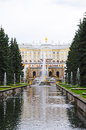 Fountains in petergof park saint petersburg russia Royalty Free Stock Photos