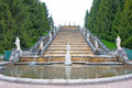 Fountains in Petergof park Royalty Free Stock Photo