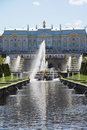 Fountains of peterhof palace stock photo Royalty Free Stock Photo