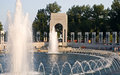 Fountains at World War II Memorial Stock Image
