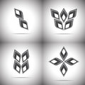 Four abstract logo set of elements Stock Images