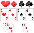 Four aces Stock Image