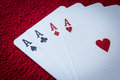 Four aces card Royalty Free Stock Photo