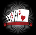Four Aces. Poker icon Royalty Free Stock Photo