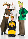 Four adults in costume Royalty Free Stock Photo