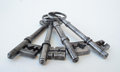 Four Antique Keys Royalty Free Stock Photo