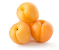 Four apricots Royalty Free Stock Image