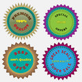 Four badges vector created in adobe illustrator Stock Images