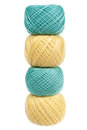 Four balls of yarn Royalty Free Stock Images