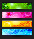 Four banners headers set of of the abstract Royalty Free Stock Photography