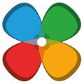 Four Basic Colors Cloverleaf Flower Royalty Free Stock Photo