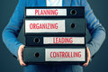 Four basic functions of management process in business organizat Royalty Free Stock Photo